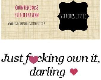 Subversive Cross Stitch - Modern Cross Stitch - Feminist Cross Stitch - PDF Pattern - Instant Download