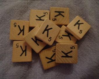 Individual Scrabble Tile Letter K