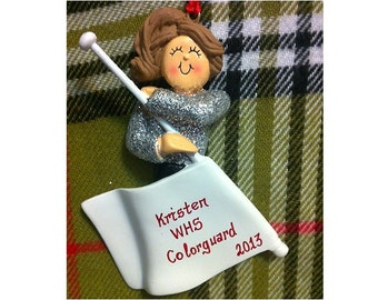 Personalized Color Guard Gift-Color Guard Birthday/Team Gifts/Color Guard Ornament/Magnet/Cake Topper/Stand-Customize Hair Color & Skin Tone