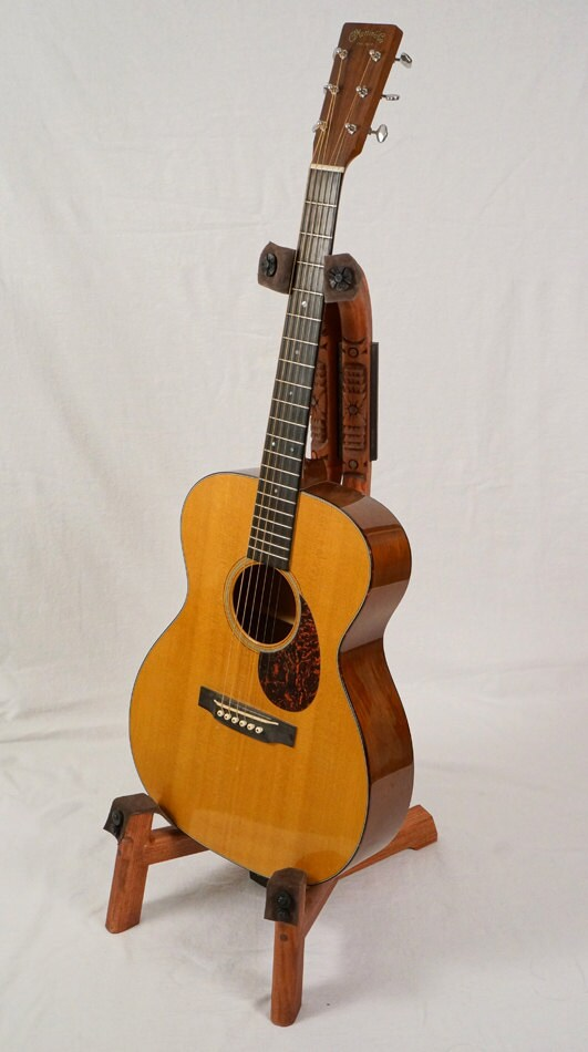 Custom Wood Guitar Stand With Southwest Hand By