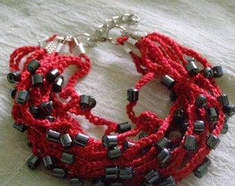 Red Multiwire Bracelet