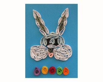 Happy Easter Card, Easter Bunny Card, Card for Easter, Easter Greeting Card, Bunny Card, Easter rabbit card