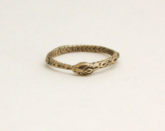 Ouroboros ring- Brass