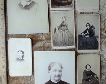 Victorian Hairstyle Card Photo Collection