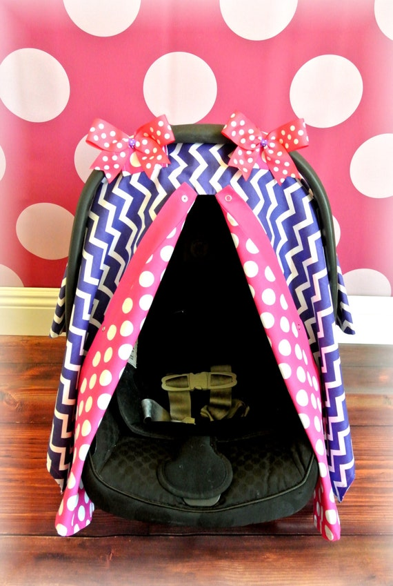 Purple Car Seat Cover Canopy Infant Car Seat By