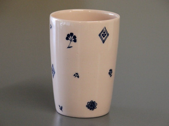 Printed Ceramic Cup Unique Coffee Cup Mug Without Handles