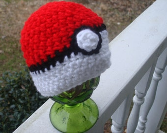 Baby Pokeball Beanie and Newborn Photo Prop