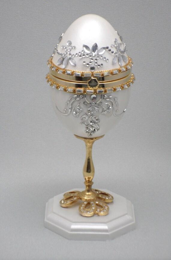 Faberge Egg Wedding Ring Box