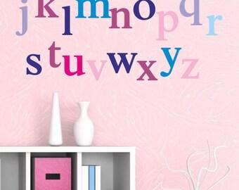 Alphabet Wall Decal Set - Kids wall decal - playroom wall decal - alphabet decal