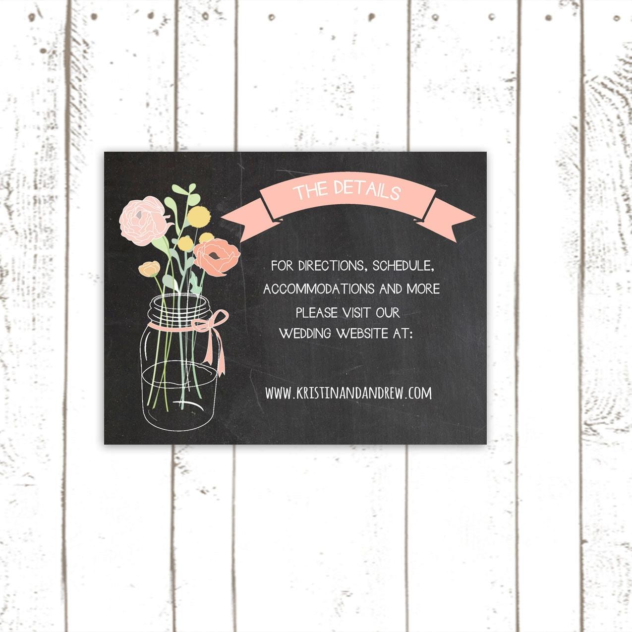Wedding Reception Card Enclosure Cards By MooseberryPaperCo