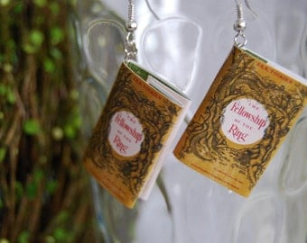 Fellowship of the Ring Book Earrings