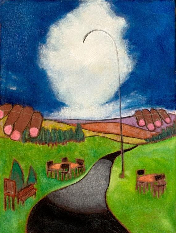 "Third Eye Light 24"" x18""- Douglass Truth Original Painting"