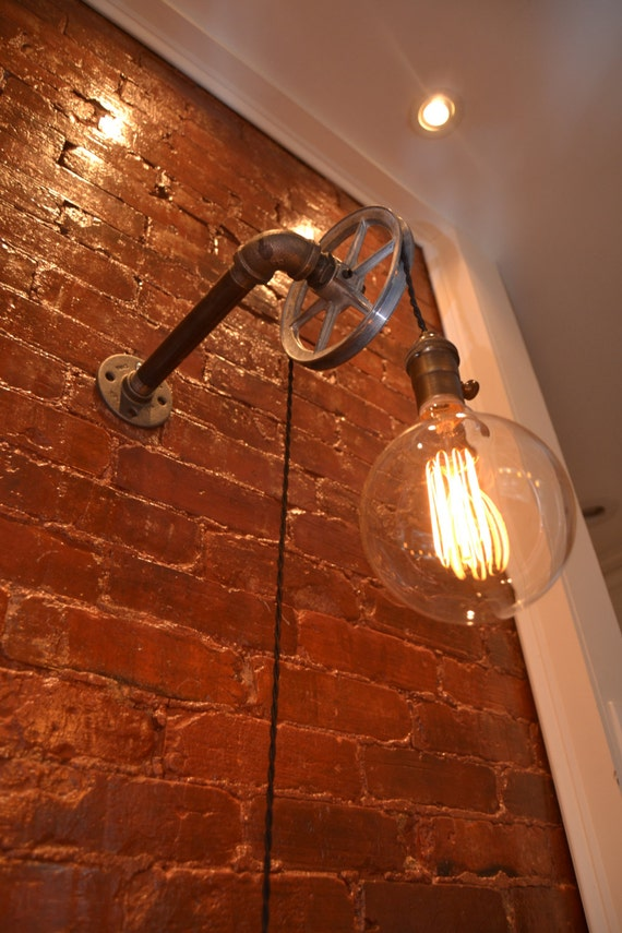 Industrial Lighting Wall Lights : Pulley Light Wall Light Industrial Lighting Lighting