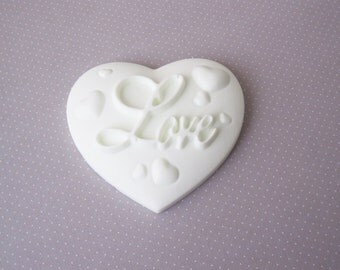 100 Love Heart Soap Favors - Any occasion - Wedding Birthday Baby Anniversary Party - Handmade Glycerin - Select your color and scent ***