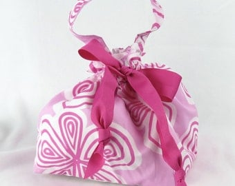 Choice of Size - Loopy Pink - Plum Creek Project Bag