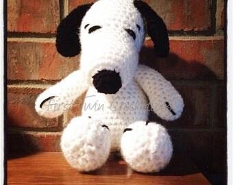 Dog Amigurumi Toy Crochet Pattern, crochet pattern, white dog toy, dog toy, crochet