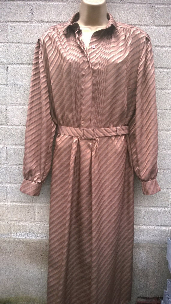 Shirt Dress Plus Size 1980s