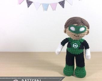Green Lantern Amigurumi Crochet Doll Pattern