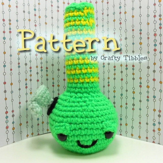 Free Crochet Pattern For Hemp Leaf : Bong Crochet Amigurumi Pattern