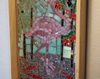 Flamingo Mosaic Tray