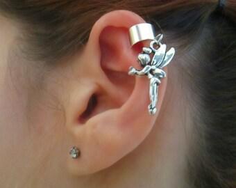 Magical fairy silver ear cuff