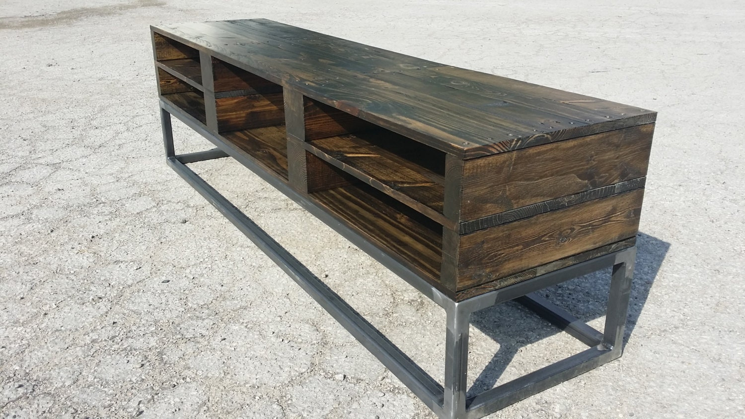 TV Console Reclaimed Pallet Wood Media Stand By