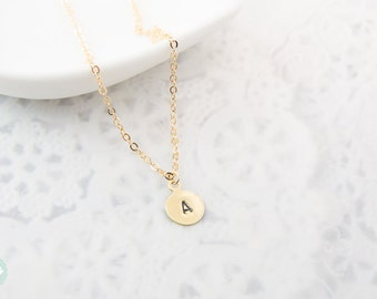 Initial charm necklace, initial necklace, personalized necklace, initial charm, gold charm necklace, charm necklace, cute necklace