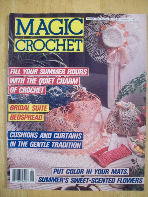 Magic Crochet Magazine : Magic Crochet magazine August 1988 Number 55 by Noahslady4Patterns