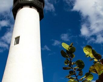 Key Biscayne, lighthouse photography, lighthouse photo, tropical art, ocean decor, ocean art, lighthouse photograph, nautical decor