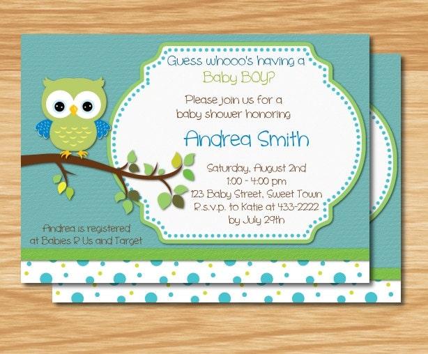baby boy owl baby shower invitation by mybabiesbreath on etsy
