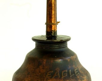 Brass Oiler, Vintage Eagle Oiler, Eagle Oil Can, Man Cave Decor, Vintage Oil Can, Old Oil Cans, Auto Decor, Oil Can , Vintage Car Oiler,