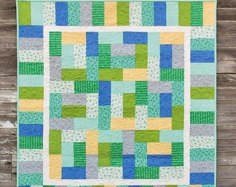 "Mingle Quilt Pattern #149 - New Little Pattern by Cluck Cluck Sew - Size 40"" x 42.5"" - Perfect for a Beginner! (W2064)"