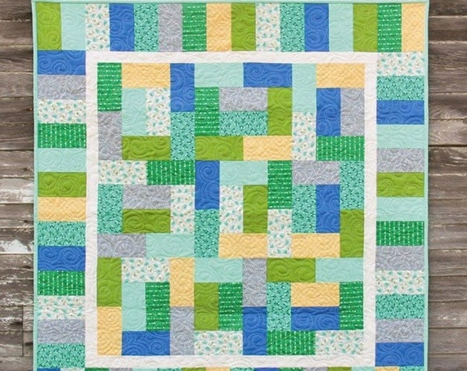 """Mingle Quilt Pattern #149 - New Little Pattern by Cluck Cluck Sew - Size 40"""" x 42.5"""" - Perfect for a Beginner! (W2064)"""