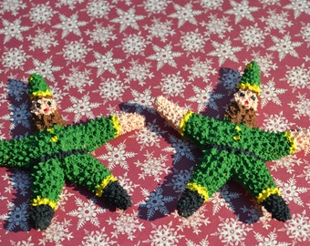 Elf Painted Starfish, Christmas Decor, Christmas Ornament | 5 Pieces