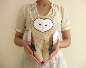 Plush Barn Owl Doll ~ Stuffed Animal ~ Soft Pillow Creatures