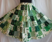 victorian garden - tiered patchwork skirt