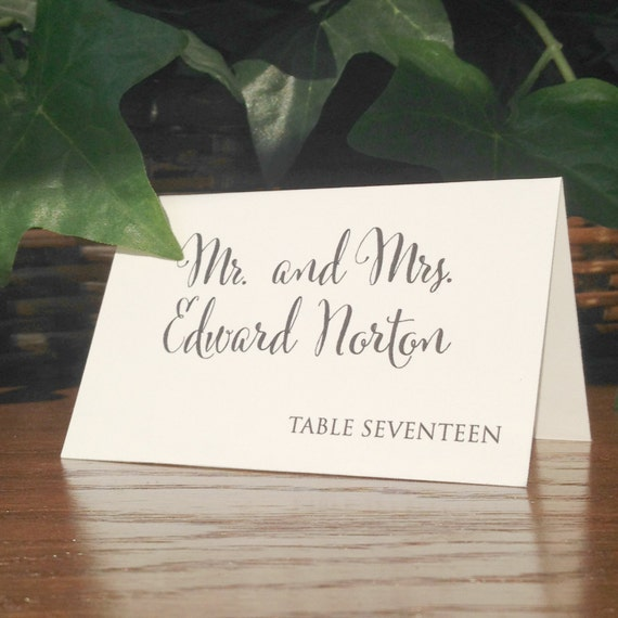 Wedding Place Cards, Escort Cards Weddings, Rustic Place