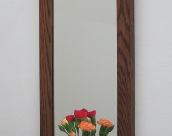 Oak Shelf Mirror