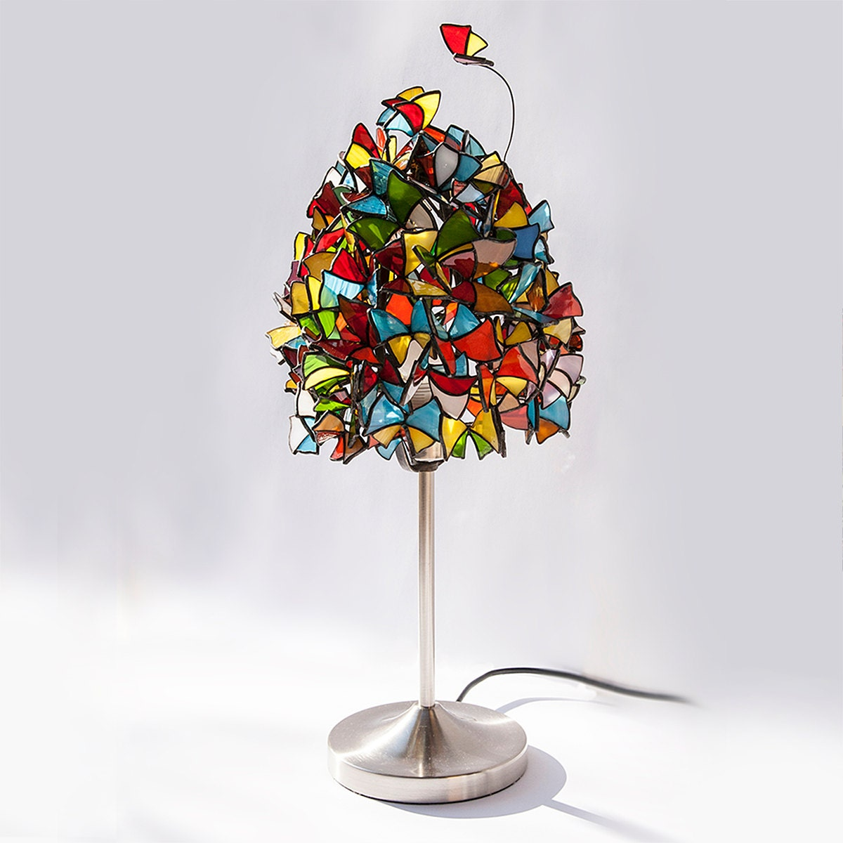 Butterflies And Hurricanes Butterfly Lamp Stained Glass
