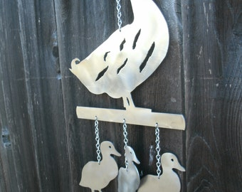 Duck with Ducklings Wind Chime