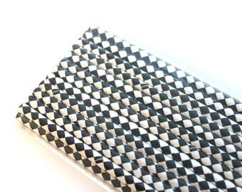 Black Diamond Paper Straws (25) - Party Paper Straws, Drinking Straws