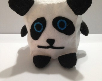 Cute Mini Cubed Panda Plush