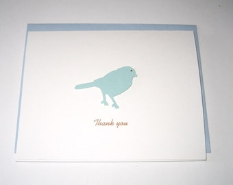 Blue bird thank you note cards stationary set