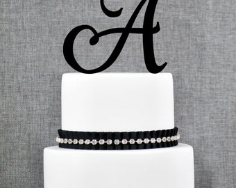 Personalized Monogram Initial Wedding Cake Toppers - Letter A, Elegant Cake Topper, Unique Cake Topper, Traditional Topper