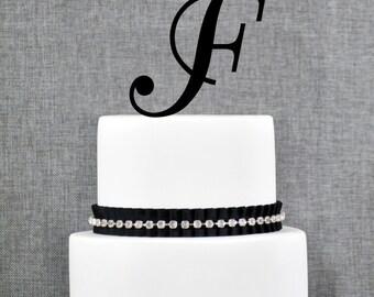 F Custom Cake Topper Letter Cake Topper Initial Cake Topper Wedding Cake Topper Cake Decoration Birthday Cake Topper Bridal Shower Gift