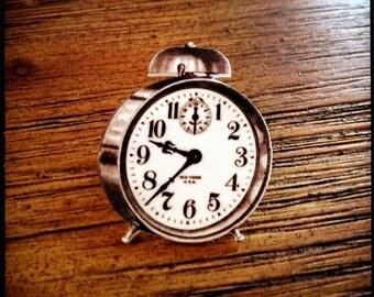 Tick Tock Take It Motivational Alarm Clock Pin