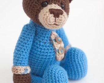 Crochet Bear Amigurumi Toy (Brandon) - Made to Order