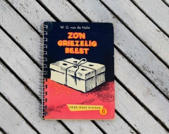 Handmade notebook of vintage children's book ' such a creepy animal '