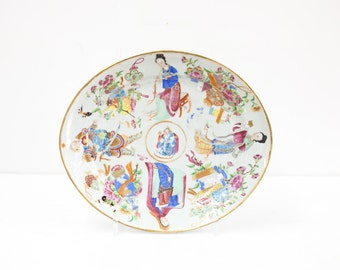 Large Rose Mandarin Chinese Platter