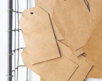 Price Tags - Gift Tags - Vintage Tags - Plain Kraft Tags - Set of 20
